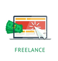 Freelance icon vector