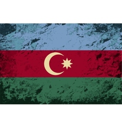 Azerbaijan flag grunge background vector
