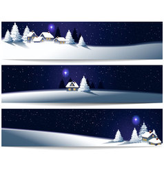Winter christmas banners vector