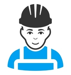 Happy mechanic icon vector