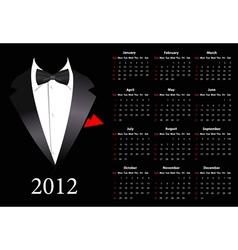 suite calendar 2012 vector image