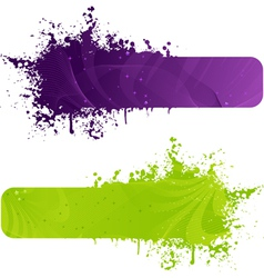 two color banners vector image