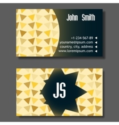 Creative golden and blue business visiting card vector