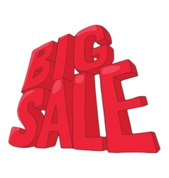 Big sale icon cartoon style vector image