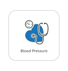 Blood Pressure Icon Flat Design vector image