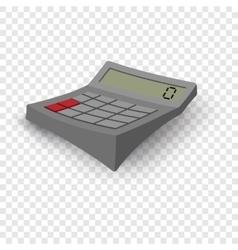 Calculator cartoon grey vector image