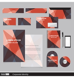 Color corporate identity template with triangles vector image