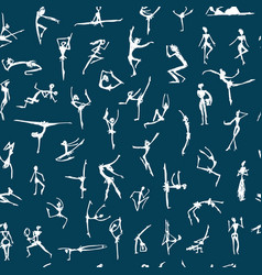 Dancing people sketch for your design vector