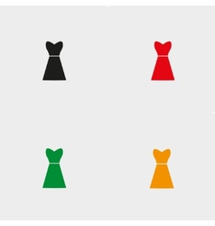 dresses set four vector image vector image