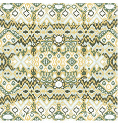 Ethnic bohemian arabesque pattern zigzag vector