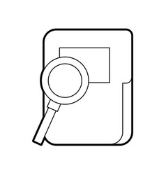 Folder document isolated icon vector