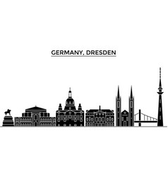 germany dresden architecture city skyline vector image vector image