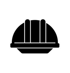 helmet construction icon vector image