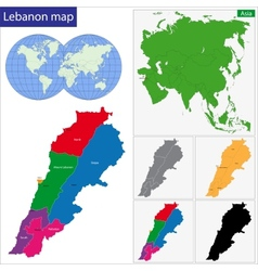 Lebanon map vector