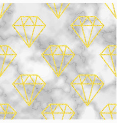 Marble background with golden diamond Royalty Free Vector