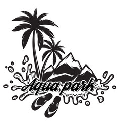 On theme of tourism with palm vector