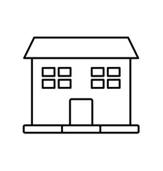 outline house windows door residence exterior vector image