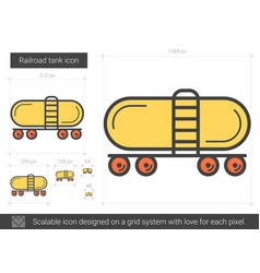 Railroad tank line icon vector
