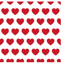 Red hearts - seamless pattern vector