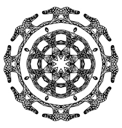 Round pattern ornate style vector