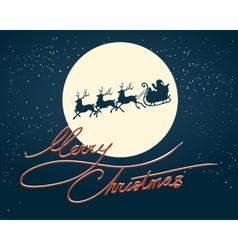 Santa on a Sledges vector image vector image