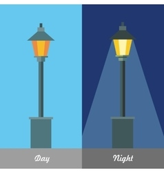 Street Light at Day and Night vector image