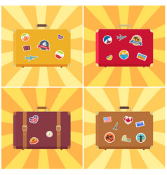 suitcase ready for travelling vector image