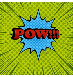 Pow comic cartoon wording vector image