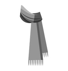 Winter scarf icon gray monochrome style vector image
