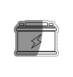 battery car isolated vector image