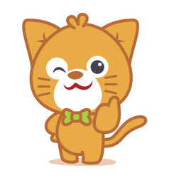 Character of cat pets collection vector
