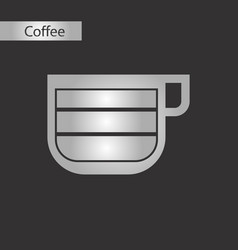 black and white style cup latte macchiato vector image
