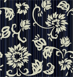 Retro floral seamless background with roses vector