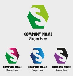 S company logo icon vector