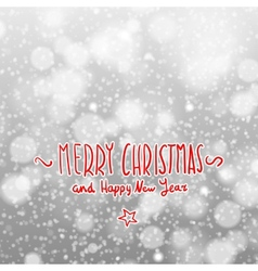 Winter merry christmas card with snowflakes vector