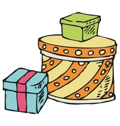 Three Boxes with Gifts vector image