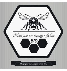 Emblem for honey1 vector