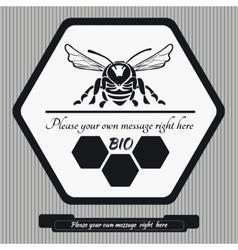 Emblem for honey1 vector image