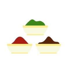 Colorful tika powders icon flat style vector