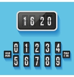 Wall flap counter clock template vector image
