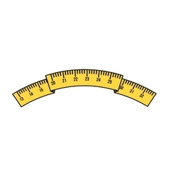 Tape measure isolated icon design vector