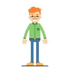 adult redheaded man in shirt and pants vector image vector image