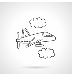Air drone flat line design icon vector image