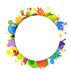 Back To School With Circle vector image vector image