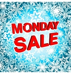 Big winter sale poster with monday sale text vector