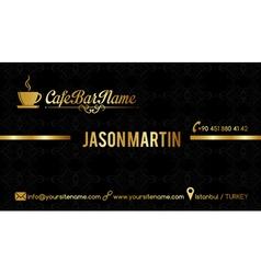 Cafe bar business card black vector