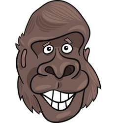 Cartoon illustration of funny gorilla ape vector