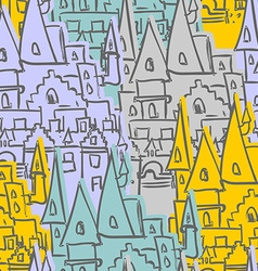 Castle seamless pattern sketch of old royal castle vector