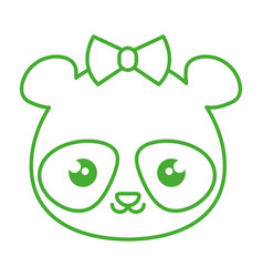 Cute and tender female bear panda kawaii style vector