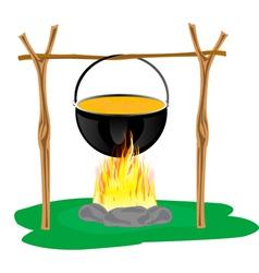 Derby on campfires vector image vector image